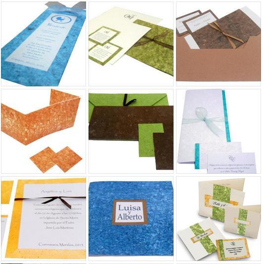 Invitaciones De Papel Reciclado